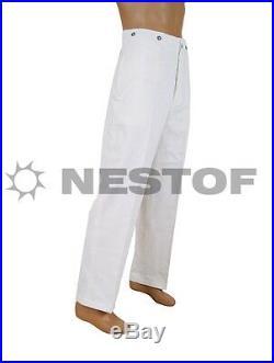 M33 White Hbt Drill Work Trousers Drillichhose Perfect Repro Size M Eu 50 W34