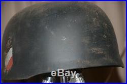 M38 Paratrooper Helmet Lufwaffe Grey FALSHIMGJAGER PARATROOPER