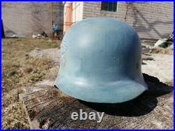 M-42 Helmet Replica, plastic. Author's art work, Hartman