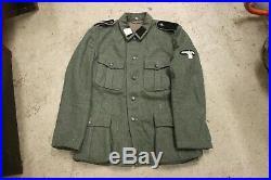 Movie Prop from Epic Estonian Movie 1944 WW2 German Waffen-SS M40 Wool Tunic