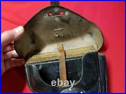 Original WWII Walther P-38 Hardshell Holster. Stamped ddk 43. Eagle WaA195