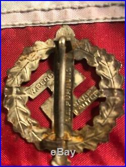 Original Ww2 German SA Silver Sports / Defense Badge WWII