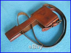 Original leather holster for Mauser C96 Red 9 WW1 Germany RaRe