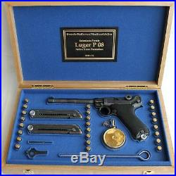 PISTOL GUN PRESENTATION CUSTOM DISPLAY CASE BOX for LUGER P08 NAVY 6 inch
