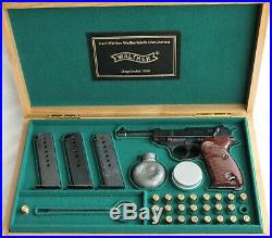 PISTOL GUN PRESENTATION CUSTOM DISPLAY CASE BOX for WALTHER P38 luger p08 pp ppk