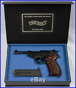 PISTOL GUN PRESENTATION CUSTOM DISPLAY CASE BOX for WALTHER P38 mauser pp ppk
