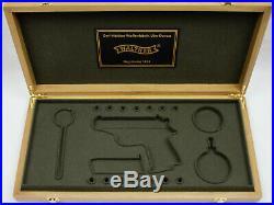 PISTOL GUN PRESENTATION CUSTOM DISPLAY CASE BOX for WALTHER PPK mauser pp p38