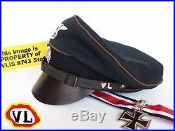PRE-WW2 GERMAN ELITE-SS k-lager bewachen(guard)CRUSHER CAP (FULLSET)