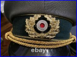 Pair of WW2 German Army Military Generals/Officers Visor Hats Caps Both Size 63