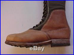 REPRODUCTION & VG Cond Afrika Korps 3rd Pattern Tall Desert Boots (Size 45)