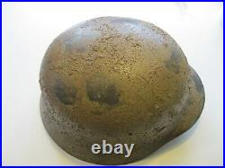 REPRO WW2 German DAK / Mediterranian Italian Sand Tan Helmet LARGE 61 Liner Size