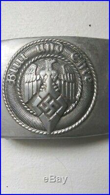 Rare WW2 German blut und ehre aluminum belt buckle