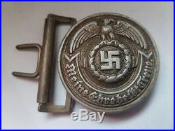 Rare Wwii German Army Ss Officer's Belt Buckle