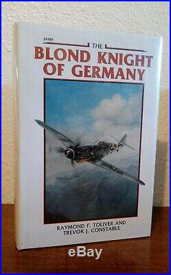 Rare-pilot Signed The Blond Knight Of Germany Signed By Erich Hartmann Wwii