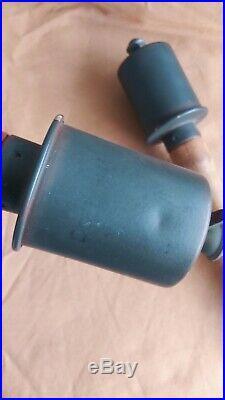 Reenactors/display set of 2 FAKE German potato masher type hand grenade