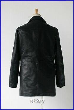 Replica Ww2 German U-boat Officer's Faux Leather Coat