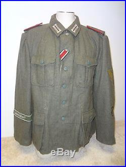 Repro German Army WWII Grossdeutschland GD Artillery M41 Tunic Size