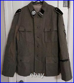 Reproduction German WWII HJ Wool Tunic with Insignia