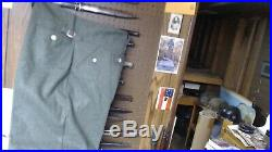Reproduction German WWII Wool Waffen SS M43 tunic&pants X-Large No insignia