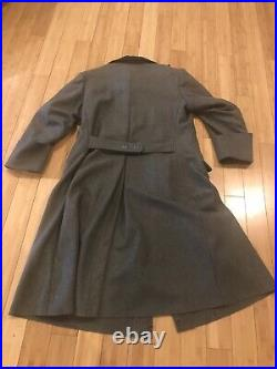 Reproduction WW2 German Army Or police wool great coat High Quality Large Size