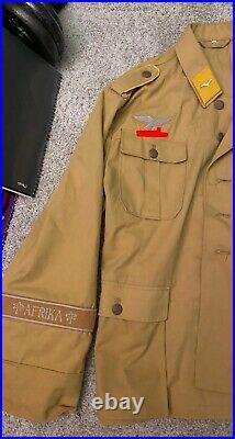 Reproduction WW2 German Fallschirmjäger Paratrooper Tunic With FJ Bandolier SizeXL