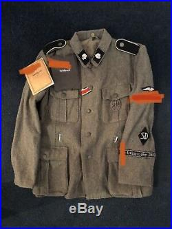 Reproduction WW2 German M-40 Elite Tunic With Insig (feldbluse) Lost Battalions