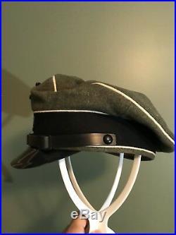 Reproduction WW2 Waffen Elite NCO Crusher. SIZE 61