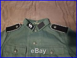 Reproduction Waffen SS Uniform With Mp40 Sling