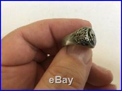 Silver Death Skull Ring German Rare