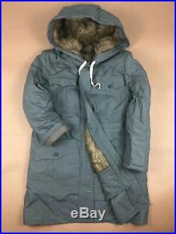 Size M WW2 German M43 Grey Rabbit Fur Winter Parka Great Coat, Re-Enactors