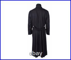 Size XL WW2 WWII German Elite M32 Black Wool Greatcoat Coat, War Re-Enactors