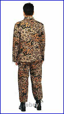 Size XXL WWII German Elite Autumn Oak Camo M43 Field Tunic Trousers Re-Enactors