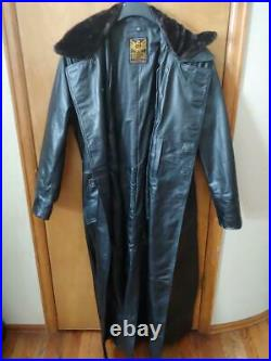 South Beach Heavy Leather, Custom Wwii Style German Officer's Long Coat