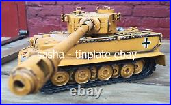 TINPLATE MODEL BLECHMODELL TIGER TANK Panzerkampfwagen VI handmade military army