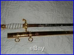 Turkish Navy Dress Dagger. German style kreigsmarine dagger. Blade 15 inches