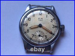 Ultra rare watch Wehrmacht WW2 Kriegsmarine K. M. 720 Festa
