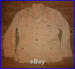 Used Repro WWII German Luftwaffe Tropical Uniform Tunic Lost Battalions Large