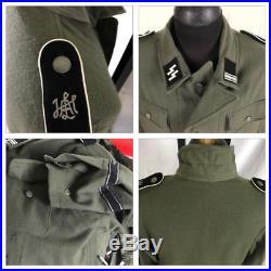 VTG WW2 German M43 Field Jacket Grey Wool Tunic Repro Reenactment Large