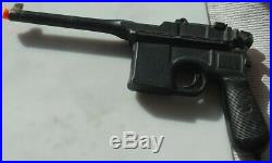 Vintage Cast Aluminum Prop Replica Broomhandle Gun German Mauser No Moving Parts