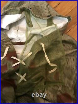 Vintage German Tan Water Camouflage Smock Parka Reproduction