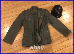 Vintage High Quality reproduction WW2 German Elite Combat Uniform & Helmet
