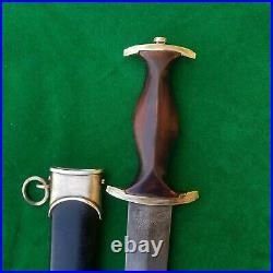 Vintage WW2 German Military Rich ABR Herder Solingen SS Dagger Knife
