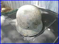 Vintage Ww2 German M35 Helmet Wwii M40 Relic