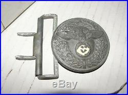 Vintage Ww2 German Officer M4/77 Rzm Belt Buckle 1939-43