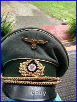 Vintage german ww2 infantry officers visor cap