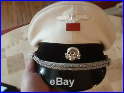 WW11 SS officers summer cap size 58 made in germany