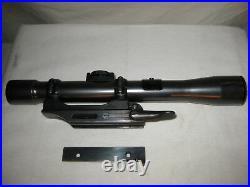 WW1 Austrian German 4 Power 4X. 22 Rifle Sniper Scope Original Rail Mount Base