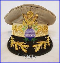 WW2 Douglas MacArthur General Of The Army General Officers Crusher Visor Hat Cap