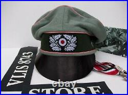 WW2 GERMAN 116th PANZER DIVISION WINDHUND CRUSHER HAT (NICE REPLICA)