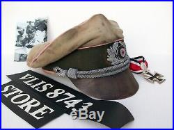 WW2 GERMAN AFRIKAKORPS, 21'st PANZER DIVISION, OFFICERS CRUSHER CAP! REPLICA